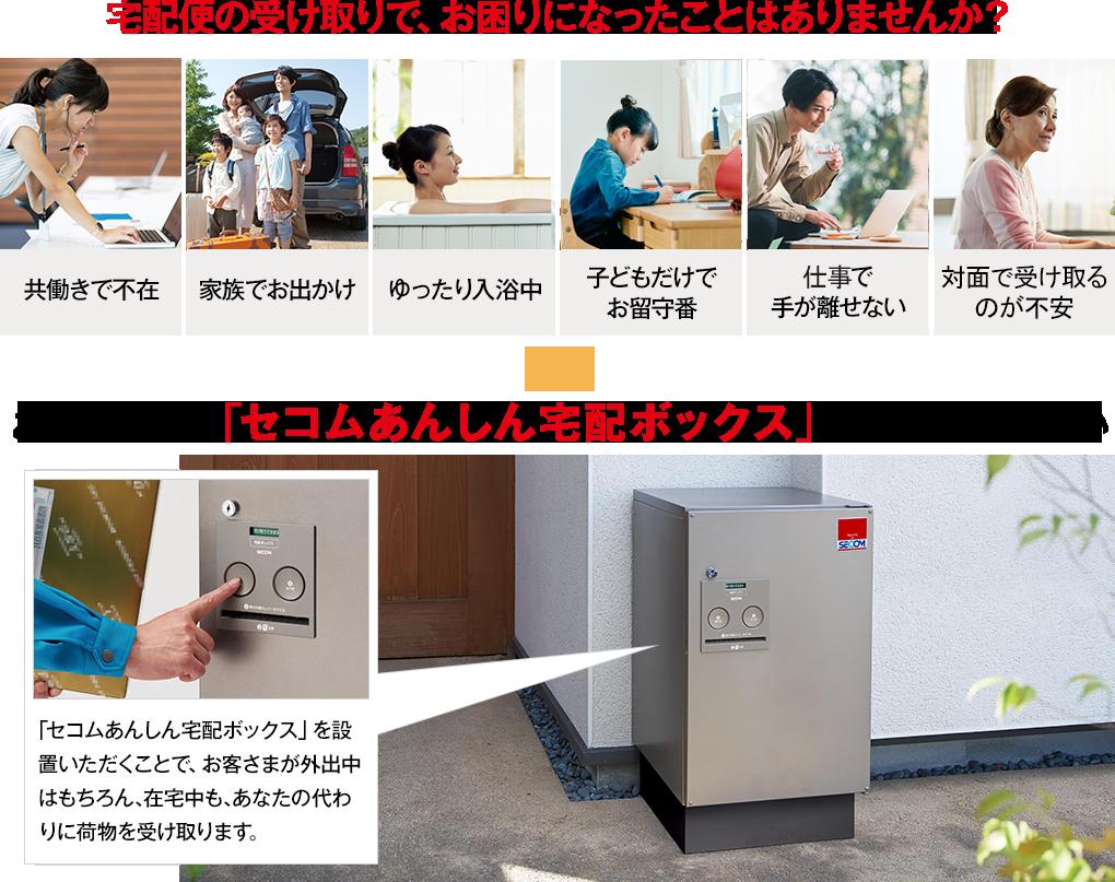 セコム安心宅配ボックス|ホームセキュリティのセコム